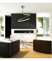 Lámpara de suspensión LED de metal acabado en plata 3000K - Nur - Mantra