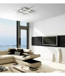 Aplique de techo LED de metal acabado en plata 3000K - Nur - Mantra