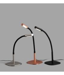 Lámpara de mesa con brazo articulado de metal LED en 3 acabados 3000K – Serp – Faro