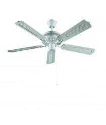 Ventilador blanco sin luz con aspas reversibles modo invierno/verano 132 cm - Cook - Massmi
