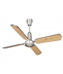 Moderno ventilador sin luz con palas reversibles 3 velocidades y regulador de pared - Eclectic - Massmi
