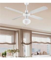 Silencioso ventilador blanco tradicional modo invierno/verano 132 cm - Corfú - Massmi