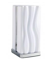 Lámpara de mesa LED de metal acabado en blanco 3000K - Arena - Mantra