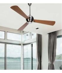 Silencioso ventilador decorativo con luz y aspas reversibles Ø 122 cm - Lagon - Massmi