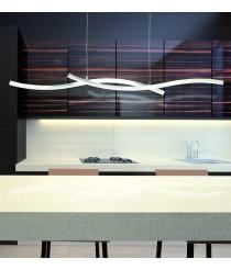 Lámpara colgante regulable LED de metal acabado en cromo 3000K - Surf - Mantra