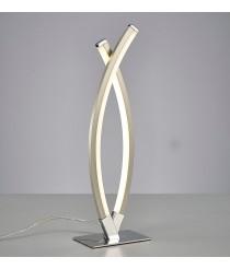 Lámpara de mesa LED de metal acabado en cromo 3000K - Surf - Mantra