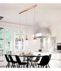 Lámpara colgante con 3 luces de cristal en 2 colores - Khalifa - Mantra