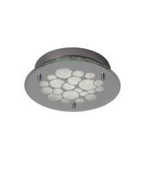 Aplique de techo LED redondo de cristal acabado cromo en 2 tamaños – Coral - Mantra