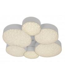 Plafón de techo LED de metal y ABS con control remoto 6 círculos 3000K - Lunas - Mantra