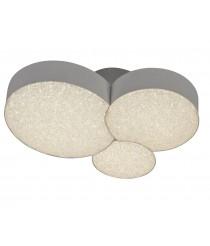 Plafón de techo LED de metal y ABS acabado blanco 3 círculos 3000K - Lunas - Mantra