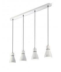 Lámpara colgante de metal con 4 luces en formato lineal - Kos - Mantra