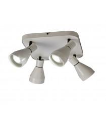 Aplique de techo de metal con 4 luces en formato circular - Kos - Mantra