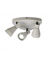 Aplique de techo de metal con 3 luces en formato circular - Kos - Mantra