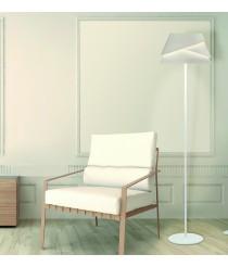 Lámpara de pie de aluminio y hierro acabado blanco - Alboran - Mantra
