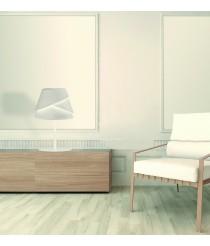 Lámpara de mesa de aluminio y hierro acabado blanco - Alboran - Mantra