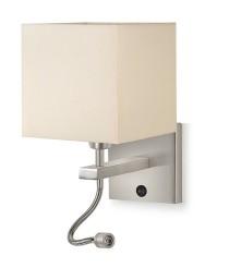 Lámpara de lectura LED con brazo orientable sin pantalla – Gina – Exo – Novolux