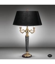 Lámpara de mesa clásica con 2 luces de bronce y base de mármol - Sobremesas - Riperlamp
