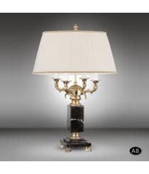 Lámpara de mesa con columna de bronce y base de mármol con 4 luces - Sobremesas 616T - Riperlamp