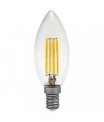 Bombilla Flama LED filamento 4W E14 3000K mate/transparente – ALG