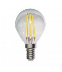 Bombilla esférica filamento LED F 4W E14/E27 transparente y mate – ALG