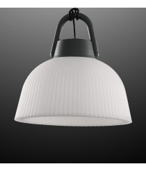 Lámpara colgante portátil de ABS acabado antracita IP 65 Ø 37 cm - Kinké - Mantra
