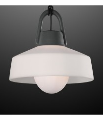 Lámpara colgante portátil de ABS acabado antracita IP 65 Ø 22 cm - Kinké - Mantra
