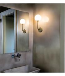 Lámpara de pared para baño en 2 colores con pantalla esférica de cristal - Gala - Faro