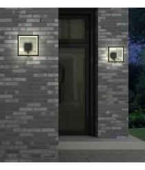 Aplique LED de exterior IP65 en aluminio gris oscuro 3000K – Rodas - Mantra