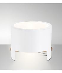Lámpara de sobremesa Ø 30 cm madera y metal blanco mate - Cube - Mantra
