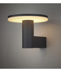 Aplique LED para exterior IP54 en aluminio gris oscuro 3000K – Cerler - Mantra