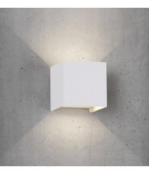 Aplique de pared de exterior en 2 colores cuadrado LED 3000K – Davos – Mantra