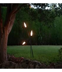 Lámpara de pie para exterior IP65 con 2/3/5 luces gris oscuro – Espiga – Mantra