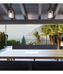 Plafón de techo de exterior en aluminio y cristal IP54 – Maya – Mantra