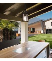 Colgante de techo de exterior en aluminio y cristal IP54 – Maya – Mantra
