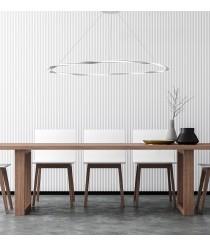 Lámpara colgante decorativa en blanco arena LED 3000K en 3 tamaños – Olimpia – Mantra