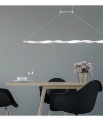 Lámpara colgante LED 3000K en blanco arena – Madagascar – Mantra