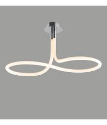 Plafón de techo LED 40W en cromo-blanco – Line – Mantra