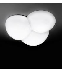 Aplique de techo blanco - Cluster - Milan