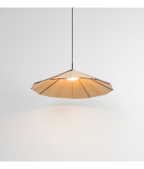 Lámpara colgante con pantalla de madera de fresno regulable – Sepal - Milan