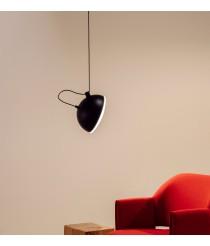 Lámpara colgante de metal negro 1 luz - Nod – Milan