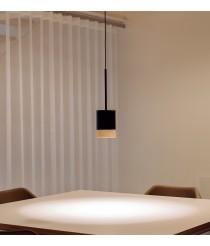 Lámpara colgante de madera de fresno y acero lacado – Third – Milan