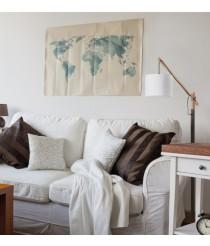 Lámpara de pie ajustable de madera con pantalla blanca - Britta - Exo - Novolux