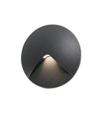 Lámpara empotrable gris oscuro – Uve – Faro