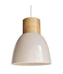 Lámpara colgante de techo de cerámica y madera en 3 colores – Wilma – IDP Lampshades
