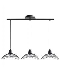 Lámpara colgante de metal en 2 acabados con 3 luces – Kasteli – IDP Lampshades