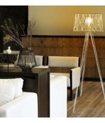 Lámpara de pie de acero blanco 130 cm - Tess - Exo - Novolux