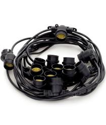 Guirnalda decorativa negra para exterior – Portofino – Dopo – Novolux Lighting