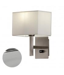Aplique de pared de metal y algodón en acabado níquel - Emes - ACB Iluminación