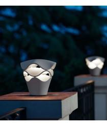 Baliza de exterior LED regulable Triac acabada en gris piedra - Cornet - Bover