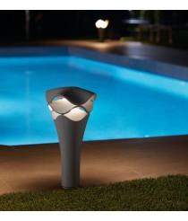 Baliza de exterior LED regulable Triac en gris piedra 52 cm - Cornet - Bover